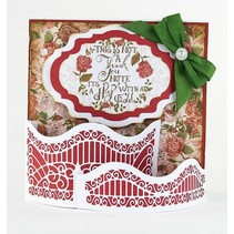 Stamping and embossing template: Dimensions - Window Box - Pretty Piazza - 1561E