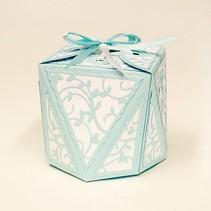 Stempelen en embossing sjabloon: Diamond Box