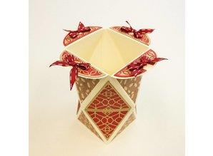 TONIC Stempling og prægning skabelon: Diamond Box