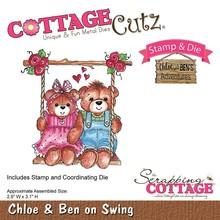 Cottage Cutz NUOVO stamping stampino timbro +: Orso sull'oscillazione