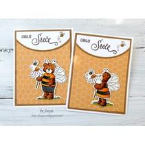 NEU Stanzschablone + Stempel: Bumblebee Chloe