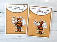Cottage Cutz NEU Stanzschablone + Stempel: Bumblebee Chloe