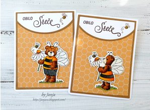 Cottage Cutz NEW Stamping template + stamp: Bumblebee Chloe