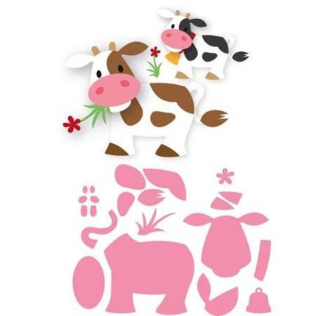 Marianne Design modello di punzonatura: mucca di Eline