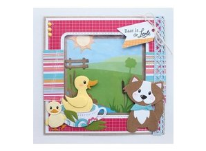 Marianne Design Punching template: Eline's duck family