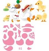Marianne Design Stanzschablone: Eline's duck family