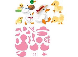 Marianne Design Stansning skabelon: Eline duck familie