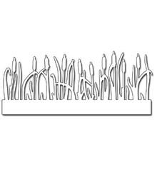 Penny Black plantilla de perforación: hierba Frontera