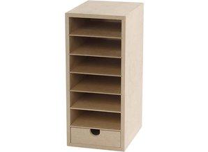 Objekten zum Dekorieren / objects for decorating Robust beholder med rum 6 og 1 Skuffe