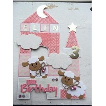 Punching and embossing template Collectables - Eline's sheep