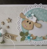 Marianne Design Punzonado y estampado plantilla de Coleccion - oveja de Eline