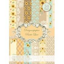 Designerpapierset, Rustic Lace
