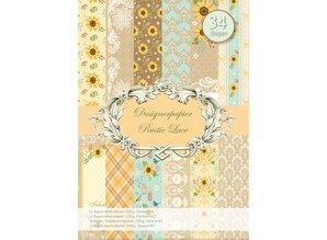 REDDY Designerpapierset, Rustic Lace