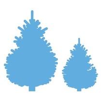 Ponsen sjabloon: Stel kerstbomen