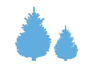Marianne Design Stansning skabelon: Set juletræer