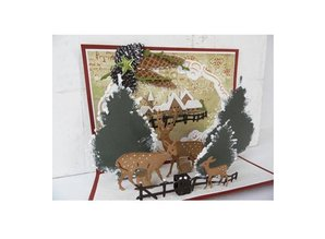 Marianne Design Stamping template: set of Christmas trees