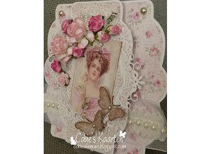 Precious Marieke Stansning skabelon: Flower dekorativ ramme