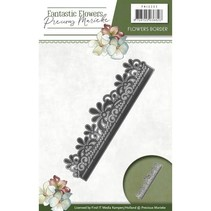 Stamping template: floral border
