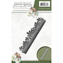 Stempelen stencil: bloem grens