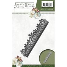 Precious Marieke Stempling stencil: blomst grænse