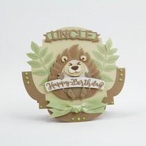 Punching template: Hedgehog in 3D
