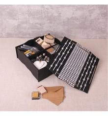 Holz, MDF, Pappe, Objekten zum Dekorieren scatola di immagazzinaggio con scomparti e coperchio