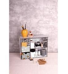 Holz, MDF, Pappe, Objekten zum Dekorieren Storage box with drawers and drawer template