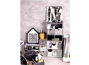 Holz, MDF, Pappe, Objekten zum Dekorieren Storage box with compartments and drawers template