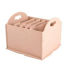 Holz, MDF, Pappe, Objekten zum Dekorieren Opbevaringsboks med rum, fx til papir