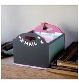 Holz, MDF, Pappe, Objekten zum Dekorieren Caja de almacenamiento con los compartimentos, por ejemplo para papel