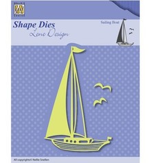 Nellie snellen Stanzschablone: Segelboot