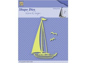 Nellie snellen Punching template: Sailboat