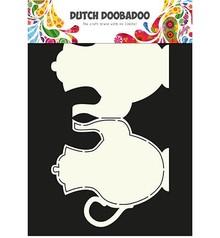 Dutch DooBaDoo Card Art: Teapot A4