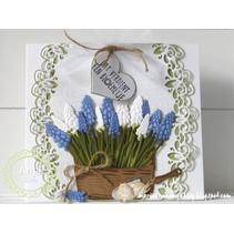 Ponsen en embossing sjabloon, hyacinten