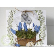 Punching and embossing template, hyacinths