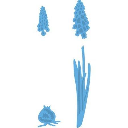 Marianne Design Troquelado y estampado de plantilla, jacintos