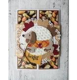 Marianne Design Troquelado y estampado en relieve de la plantilla, perro