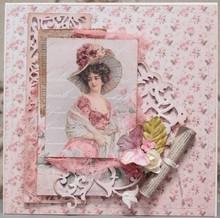 """LaBlanche Lablanche carte """"Roses"""" 6"""