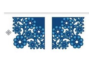 Die'sire Stanzschablonen: 1 Spitzenecke + 1x diese Ecke in Spiegelbild