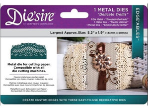 Die'sire NEW Stamping Stencils: Filigree Card Design Delicate Trellis