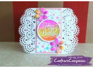 Die'sire NEW cutting dies: Filigree Card Design Aurora Wheel