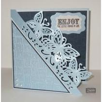 NUEVA troqueles de corte: Tarjeta de filigrana de gran formato Edge'ables, mariposas