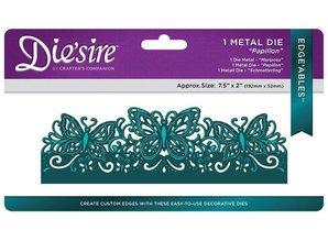 Die'sire NY skæring dør: Filigree Card stort format Edge'ables, sommerfugle