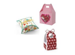 BASTELSETS / CRAFT KITS: 6 scatole di design di base, 2 x 3