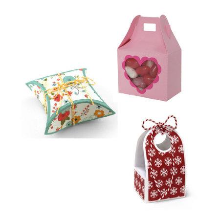 BASTELSETS / CRAFT KITS: 6 BASIC designer boxes, 2 x 3