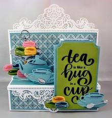 Marianne Design Stansning skabelon: Tea for dig