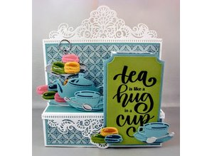 Marianne Design Punching template: Tea for you