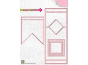 Nellie snellen Stamping template: Magic Card, square