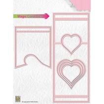 plantilla de perforación: Magic Card, corazón