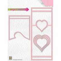 Stamping template: Magic Card, heart
